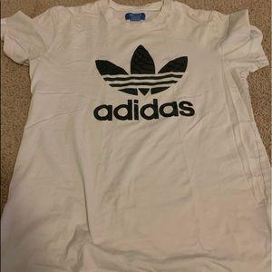 Women's white and black adidas shirt